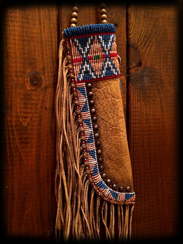 Beaded knife sheath 3