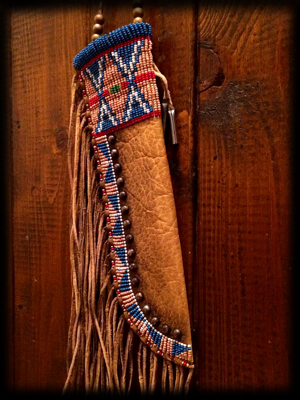 Beaded knife sheath 4