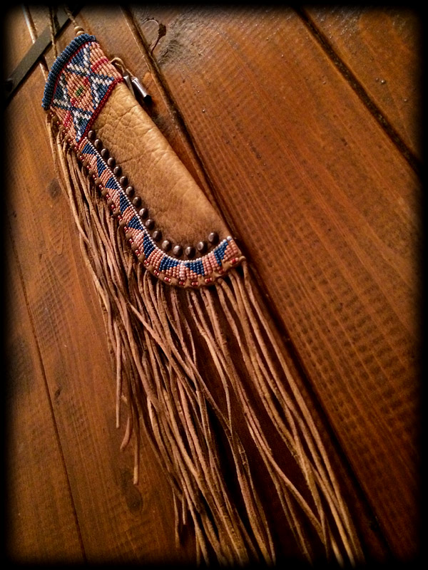 Beaded knife sheath 5