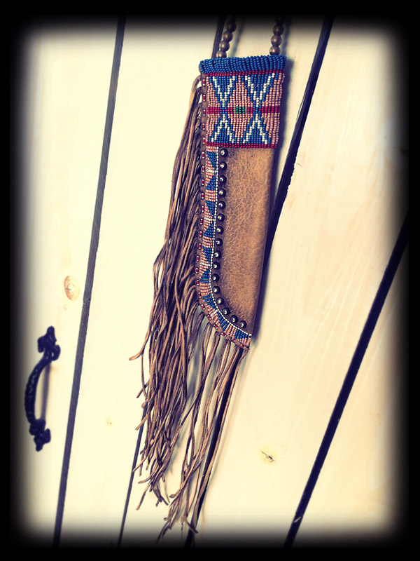 Beaded knife sheath 6