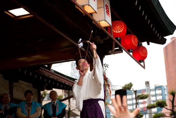住吉神社:節分:桃の弓と葦の矢