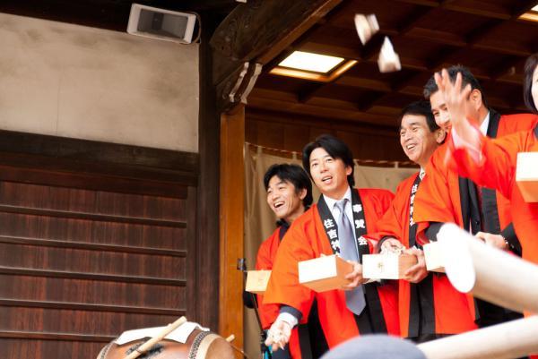 住吉神社:節分:豆撒き02