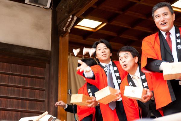 住吉神社:節分:豆撒き03