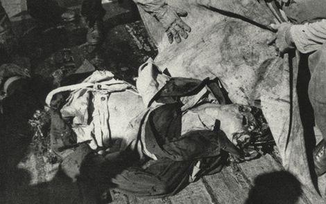 特攻隊員の遺体