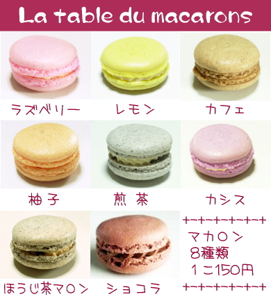 La table du macarons