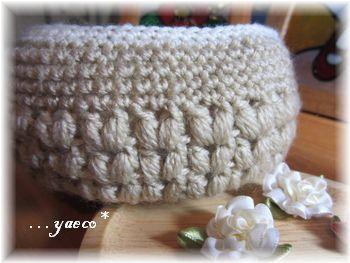 玉編みのかご2