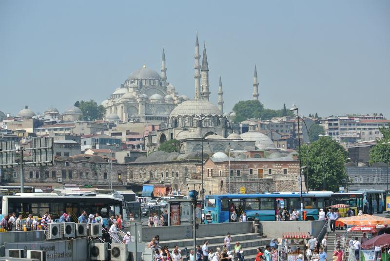 ガラタ橋からスレイマンモスク
