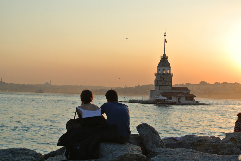 イスタンブール夕日