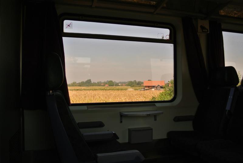 ブダペスト行き電車