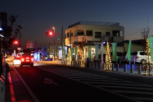 イルミネーション 竜王駅 周辺道路