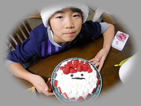 柊里くんクリスマスケーキ
