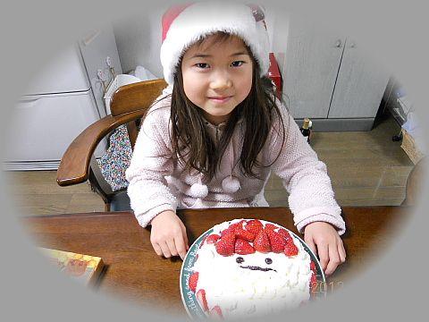沙羅ちゃんクリスマスケーキ