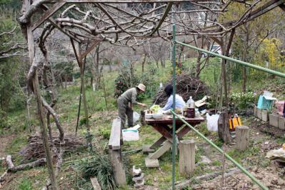 鞆渕でのバーベキュー