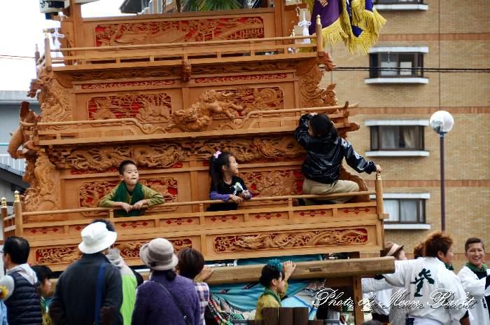 登道屋台(だんじり) 新町泉 伊曽乃神社祭礼 西条祭り2013
