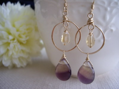 flourite earrings