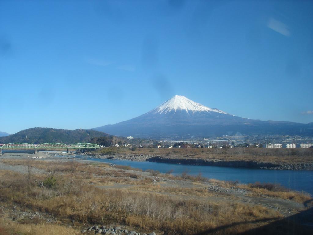 富士川から見る富士山