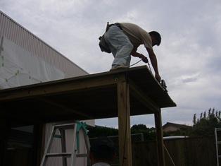 屋根の先端カット