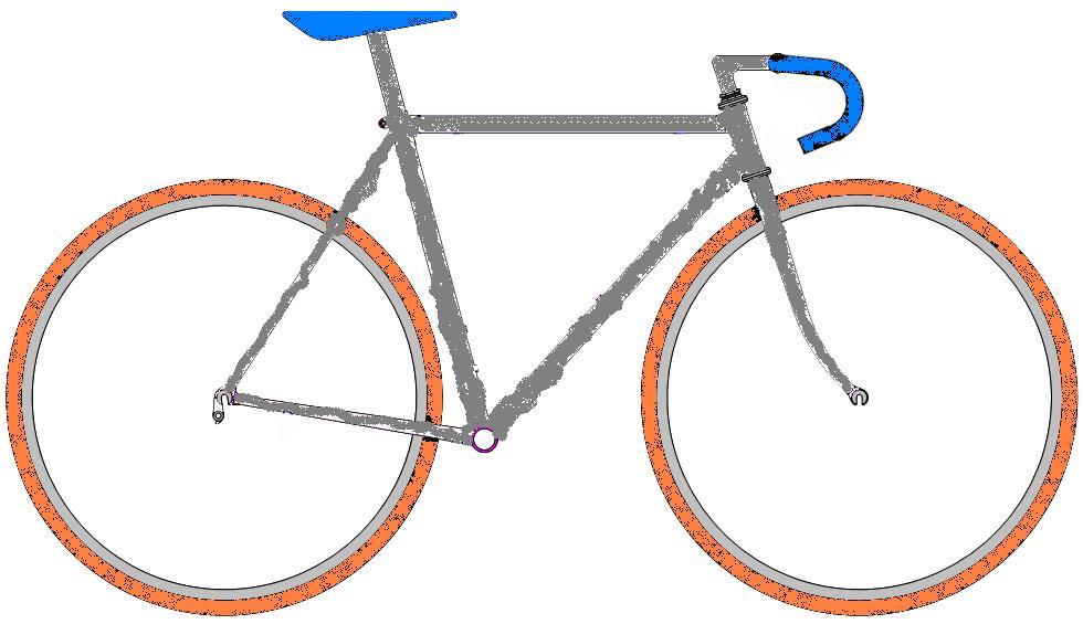 ロードバイク塗り絵1