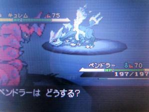キュレム(色違い戦闘画面)