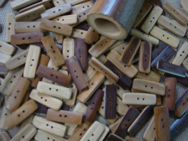 煤竹のボタン
