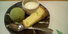 デザート盛り合わせ(抹茶アイス、パンナコッタ、カステラ)