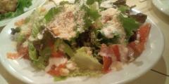 スモークサーモンとトマトのサラダ
