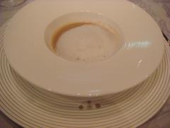 栗のスープ カプチーノ仕立て