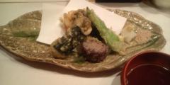 牡蠣と白子天ぷら