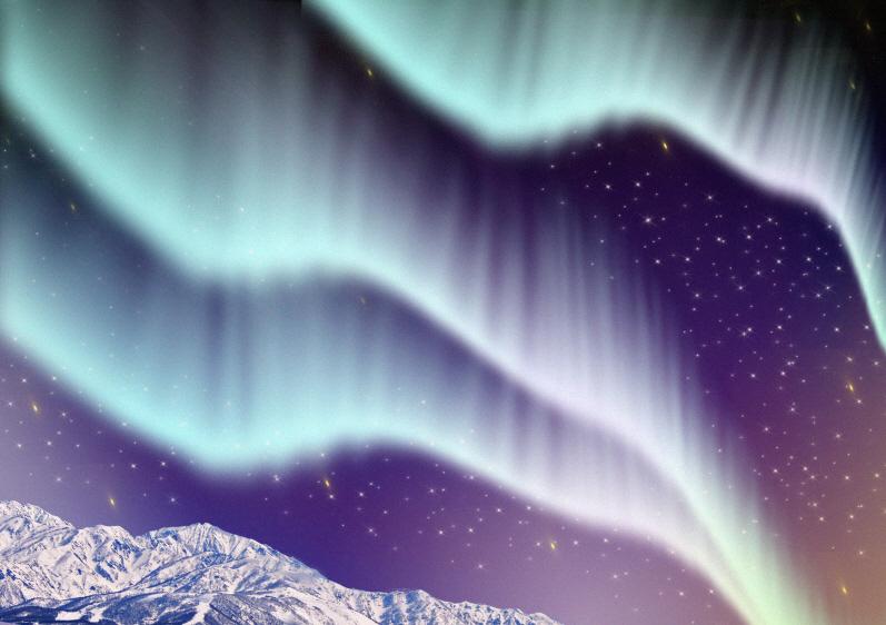 オーロラ(夜空の神秘)