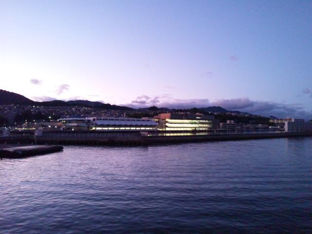 宮島ボートの夜景