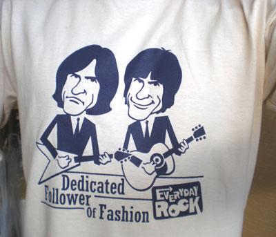EverydayRock T Shirt Kinks Ray Davies Dave Davies  caricature