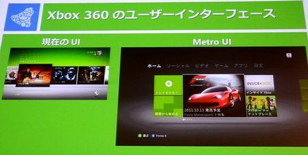Xbox360 年内アップデートで刷新 Metro UI(メトロ ユーザーインターフェイス)を採用