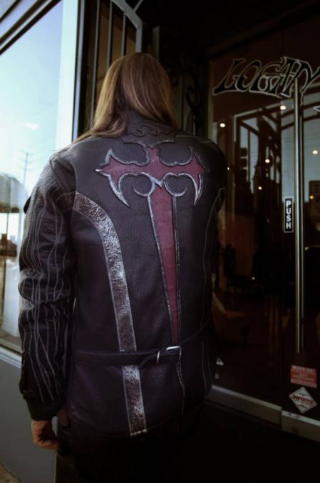 Gaboratory,Gabor,Logan,Riese,Leather,Jacket,Cross,Silver