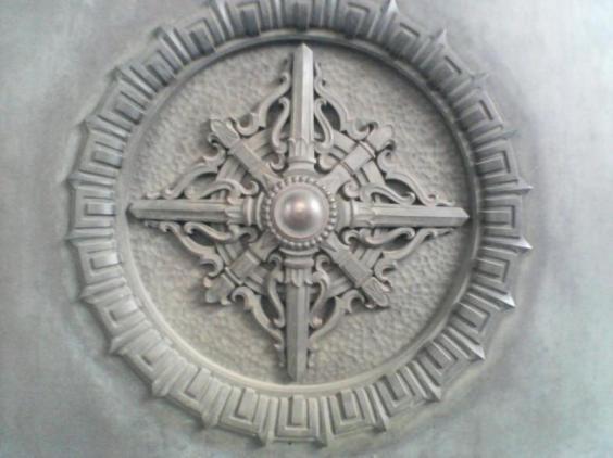 ドアの彫刻