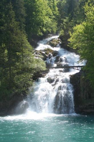 スイスの滝