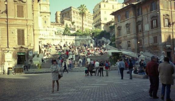 1987.11 ローマ スペィン広場