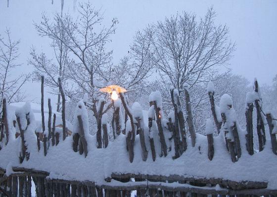 2007.12.31 鶴の湯別棟 窓景色