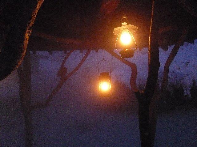 ランプの露天
