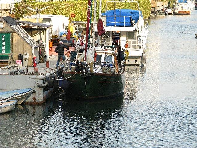 2008.03 浜離宮にヨット