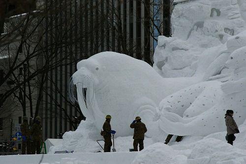 雪祭り準備1