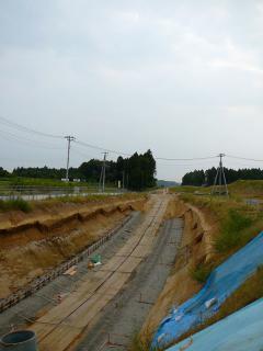東関東自動車道の工事現場
