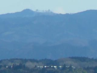 喜連川スカイタワーからの尺丈山