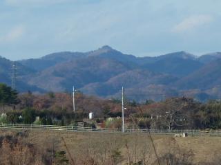 西部総合公園からの尺丈山