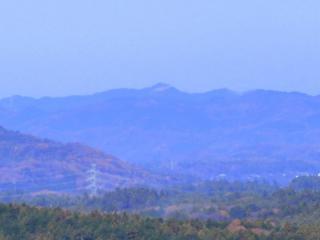 大鍋山からの尺丈山(拡大)