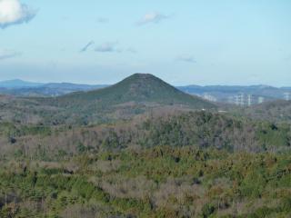 益子の森からの尺丈山