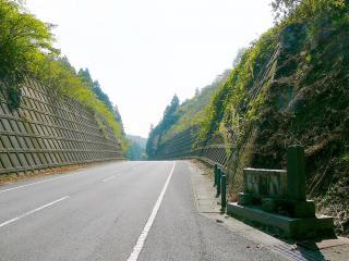 県道164号 権現山 登山道入口