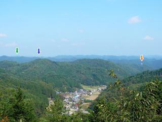 権現山から北方向の眺望