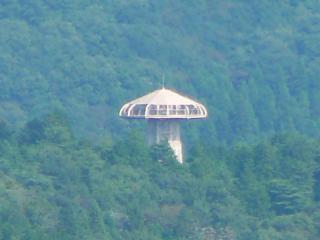 権現山からの「やすらぎの里」展望台