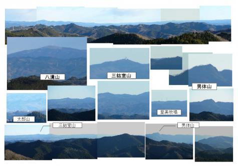 八溝山~男体山