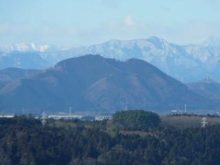 喜連川スカイタワーからの羽黒山